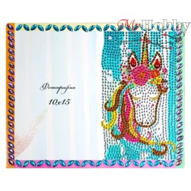 "Diamond Embroidery Painting Kit ""Unicorn"" Collection D'Art - size 21x17cm"