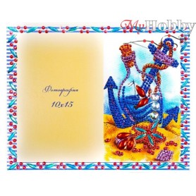 "Diamond Embroidery Painting Kit ""Vacation"" Collection D'Art - size 21x17cm"