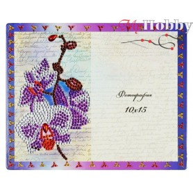 "Diamond Embroidery Painting Kit ""Cute orchid"" Collection D'Art - size 21x17cm"
