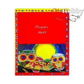 "Diamond Embroidery Painting Kit ""Magical owls"" Collection D'Art - size 17x21cm"