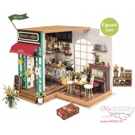 Miniature Dollhouse Room Box Kit - DIY Simon's coffee
