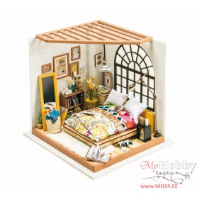 Miniature Dollhouse Room Box Kit - DIY Alice's dreamy bedroom