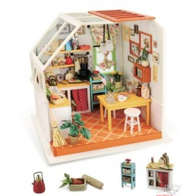 Miniature Dollhouse Room Box Kit - DIY Jason's kitchen