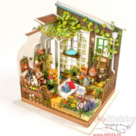 Miniature Dollhouse Room Box Kit - DIY Miller's garden