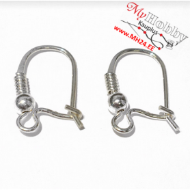 Sterling Silver Ear wires, dimensions: 15 x 9,5mm, 1pc