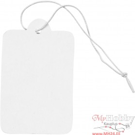 Gift Tags, white, size 25x40 mm, 100 pc/ 1 pack