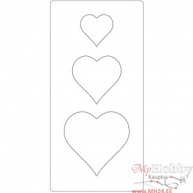 Steel Ruled Die, heart, size 15,2x30,37 cm, thickness 15 mm, 1 pc