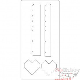 Steel Ruled Die, heart box, size 15,2x30,37 cm, thickness 15 mm, 1 pc