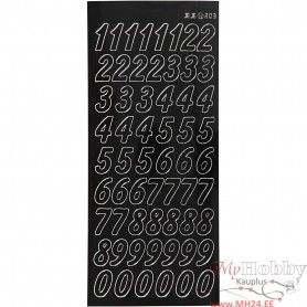 Stickers, must, big numbers, 10x23 cm, 1 sheet