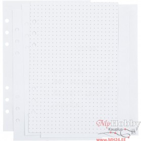 Planner pages, white, dots, size 142x210 mm, 36 , 120 g, 1 pc/ 1 pack