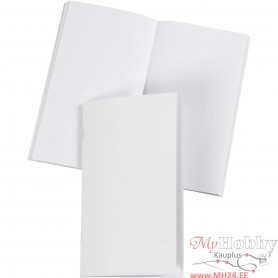 Notebook, white, size 9,5x16,6 cm, glossy, 32 , 100 g, 1 pc