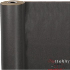 Wrapping Paper, black, W: 50 cm, 60 g, 100 m/ 1 roll