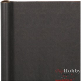 Wrapping Paper, black, W: 50 cm, 60 g, 5 m/ 1 roll