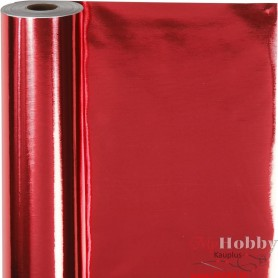 Wrapping Paper, red, W: 50 cm, 65 g, 100 m/ 1 roll