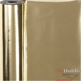 Wrapping Paper, gold, W: 50 cm, 65 g, 100 m/ 1 roll