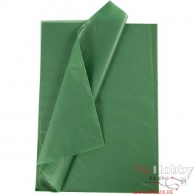 Tissue Paper, green, 14 g, 10 sheet/ 1 pakk
