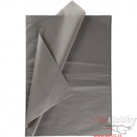 Tissue Paper, dark grey, 50x70 cm, 14 g, 10 sheet/ 1 pakk