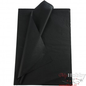 Tissue Paper, must, 50x70 cm, 14 g, 10 sheet/ 1 pakk