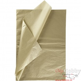 Tissue Paper, gold, 50x70 cm, 14 g, 6 sheet/ 1 pakk