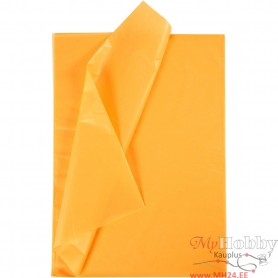 Tissue Paper, yellow, 50x70 cm, 17 g, 10 sheet/ 1 pakk