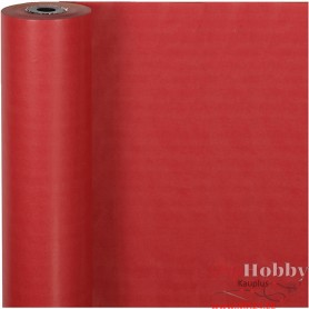 Wrapping Paper, red, W: 50 cm, 60 g, 100 m/ 1 roll