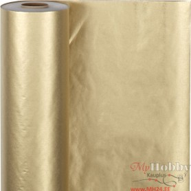 Wrapping Paper, gold, W: 50 cm, 60 g, 100 m/ 1 roll