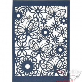 Lace Patterned cardboard, blue, 10,5x15 cm, 200 g, 10 pc/ 1 pack