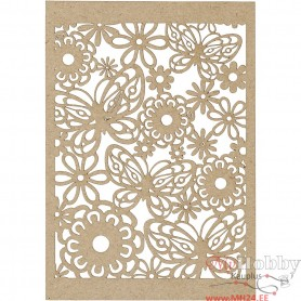 Lace Patterned cardboard, natural, 10,5x15 cm, 200 g, 10 pc/ 1 pack
