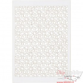 Lace Patterned cardboard, white, 10,5x15 cm, 200 g, 10 pc/ 1 pack