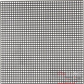 Cross Stitch Plastic, black, size 14x14 cm, hole size 3x3 mm, 50 sheet/ 1 pack