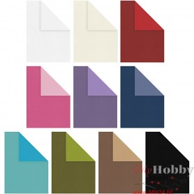 Card, assorted colours, A4, 210x297 mm, 250 g, 30x25 sheet/ 1 pack