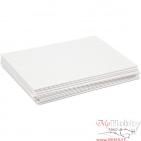 Foam board, valge, A4, 210x297 mm, thickness 3 mm, 10 sheet/ 1 pakk