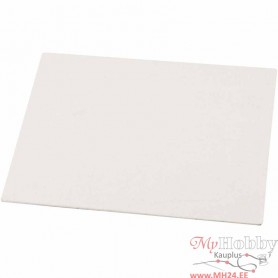 Canvas Panel, white, A5, size 15x21 cm, 280 g, 10 pc/ 1 pack