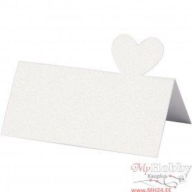 Place Cards, white, size 8x8,5 mm, 120 g, 20 pc/ 1 pack