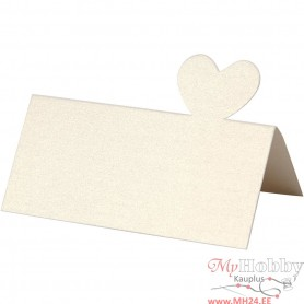 Place Cards, off-white, size 8x8,5 mm, 120 g, 20 pc/ 1 pack