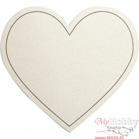Heart, off-white, size 75x69 mm, 120 g, 10 pc/ 1 pack