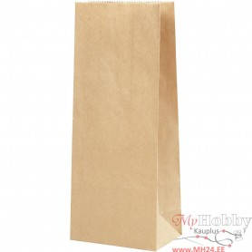 Paper Bag, brown, size 9x6,5x22,5 cm, 50 g, 100 pc/ 1 pack