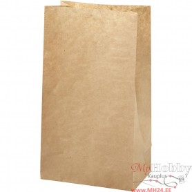 Paper Bag, brown, size 15x9x27 cm, 50 g, 100 pc/ 1 pack