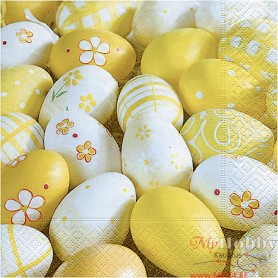 Table Napkins, decorated eggs, size 33x33 cm, 20 pc/ 1 pack