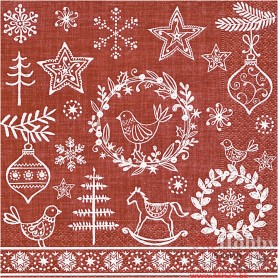 Table Napkins, Christmas spirit, size 33x33 cm, 20 pc/ 1 pack