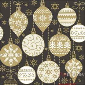 Table Napkins, Christmas baubles, size 33x33 cm, 20 pc/ 1 pack
