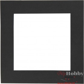 Picture Mount, black, size 12,5x12,5 cm, 300 g, 25 pc/ 1 pack