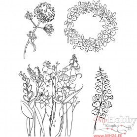 Clear Stamps, spring, 11x15,5 cm, 1 sheet