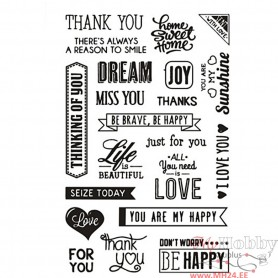 Clear Stamps, English words, 11x15,5 cm, 1 sheet
