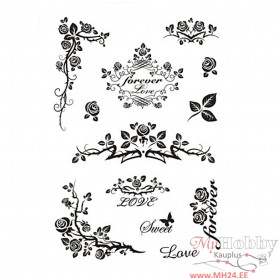 Clear Stamps, forever, 11x15,5 cm, 1 sheet