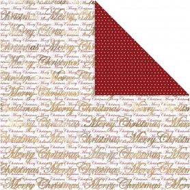 Design Paper, gold, Merry Christmas and dots, 30,5x30,5 cm, 180 g, 3 sheet/ 1 pack