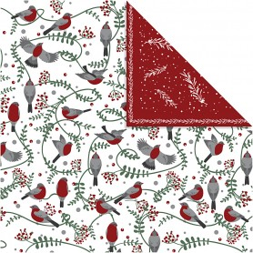 Design Paper, birds and branches, 30,5x30,5 cm, 180 g, 5 sheet/ 1 pack