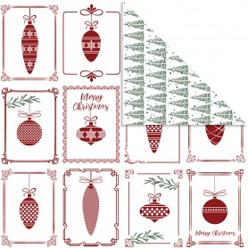 Design Paper, christmas balls and christmas trees, 30,5x30,5 cm, 180 g, 5 sheet/ 1 pack