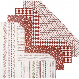 Origami Paper, red, size 15x15 cm, 80 g, 40 sheet/ 1 pack