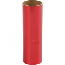 Deco Foil, red, W: 15,5 cm, 50 cm/ 1 roll